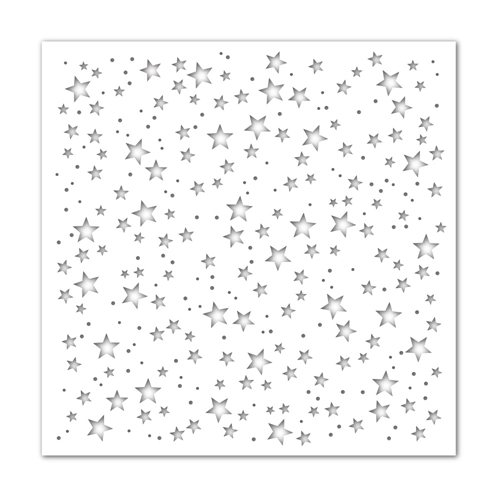 Simon Says Stamp Stencil SCATTERED STARS ssst121506 Holly Jolly Preview Image