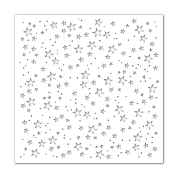 Simon Says Stamp Stencil SCATTERED STARS ssst121506 Holly Jolly