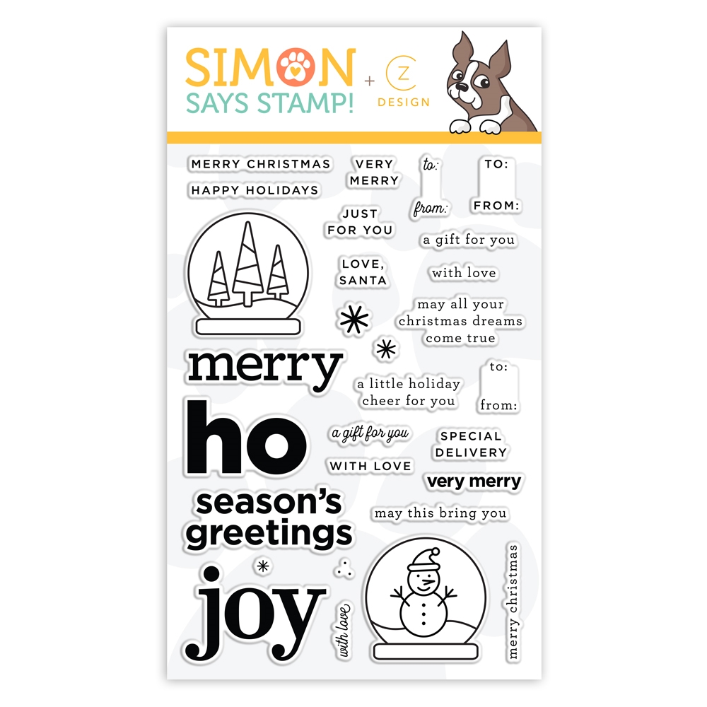 CZ Design Clear Stamps LET'S MAKE A TAG cz363c Holly Jolly zoom image