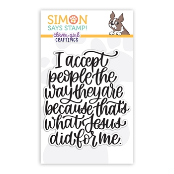 Simon Says Clear Stamps I ACCEPT PEOPLE sss102223 Holly Jolly Clever Girl Craftings