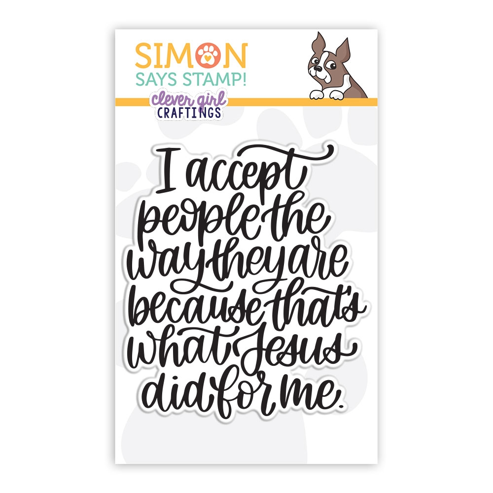 Simon Says Clear Stamps I ACCEPT PEOPLE sss102223 Holly Jolly Clever Girl Craftings zoom image