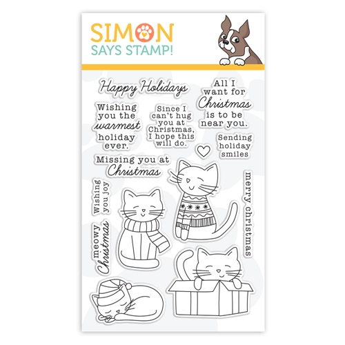 Simon Says Clear Stamps CHRISTMAS KITTIES sss302229c Holly Jolly Preview Image