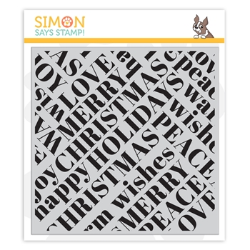 Simon Says Cling Stamp HOLIDAY WORDS BACKGROUND sss102231 Holly Jolly