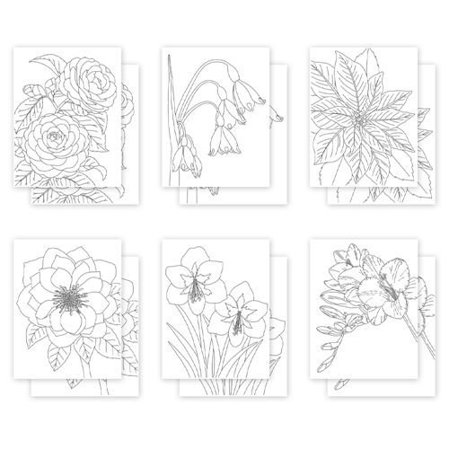 Simon Says Stamp Suzy's WINTER FLORALS Watercolor Prints sz1120wf Holly Jolly Preview Image