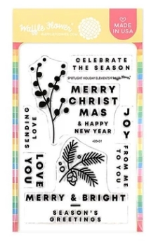 Waffle Flower SPOTLIGHT HOLIDAY ELEMENTS Clear Stamps 420431