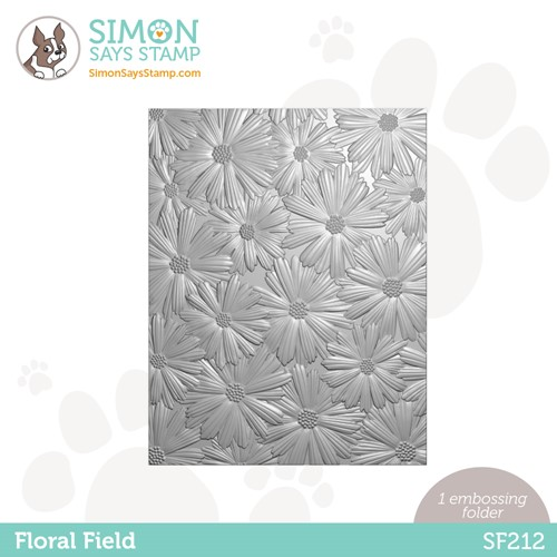 Simon Says Stamp Embossing Folder FLORAL FIELD sf212 Holly Jolly Preview Image