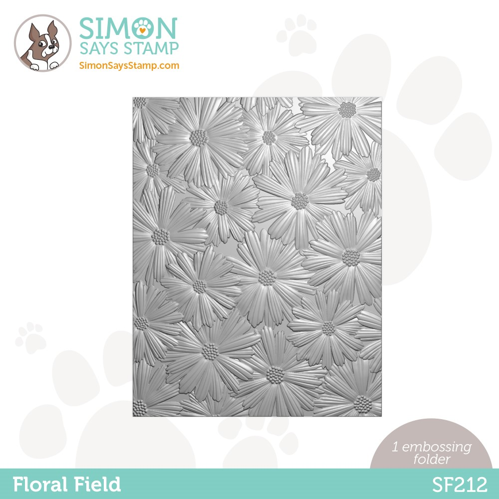 Simon Says Stamp Embossing Folder FLORAL FIELD sf212 Holly Jolly zoom image