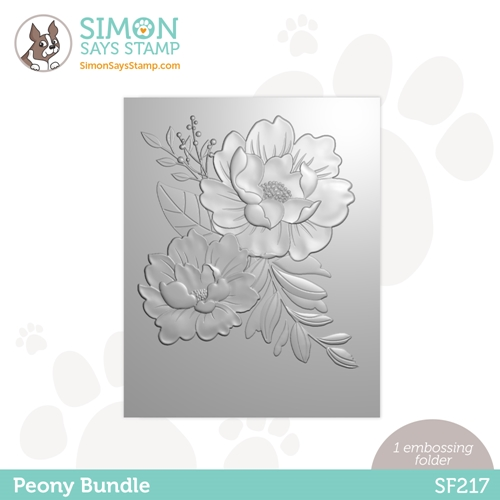 Simon Says Stamp Embossing Folder PEONY BUNDLE sf217 Holly Jolly Preview Image