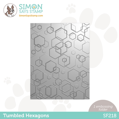Simon Says Stamp Embossing Folder TUMBLED HEXAGONS sf218 Holly Jolly Preview Image