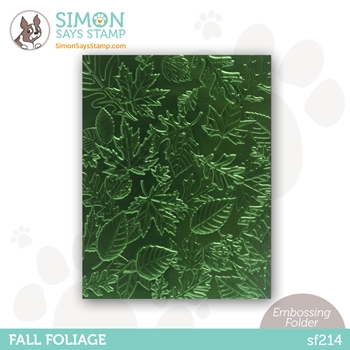 Simon Says Stamp Embossing Folder FALL FOLIAGE sf214 Holly Jolly