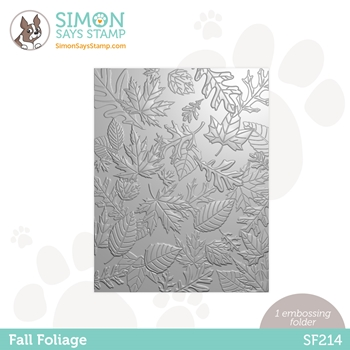 Simon Says Stamp Embossing Folder FALL FOLIAGE sf214 Holly Jolly **