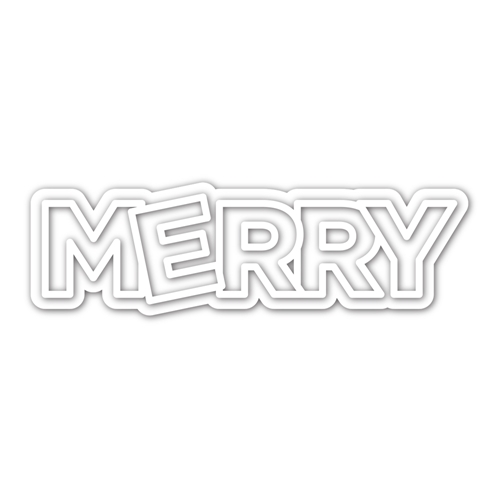 CZ Design CHUNKY MERRY Wafer Dies czd111 Holly Jolly Preview Image