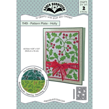 Karen Burniston HOLLY Pattern Plate Die 1149