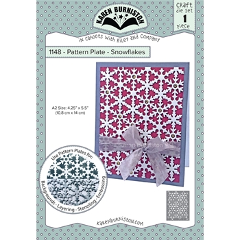 Karen Burniston SNOWFLAKES Pattern Plate Dies 1148