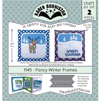 Karen Burniston FANCY WINTER FRAMES Dies 1145