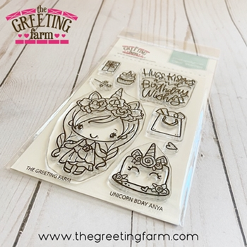 The Greeting Farm UNICORN BDAY ANYA Clear Stamps tgf571