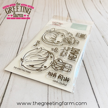 The Greeting Farm LOVE COUPLE Clear Stamps tgf573