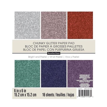 DCWV Recollections 6 x 6 CHUNKY GLITTER Paper Pad