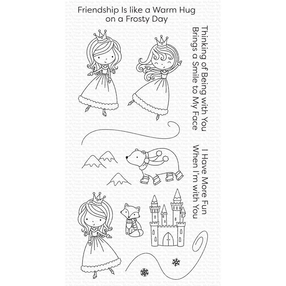 My Favorite Things ICE PRINCESS AND FRIENDS Clear Stamps cs509 zoom image