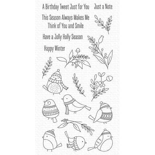 My Favorite Things WINTER SONGBIRD Clear Stamps cs520 Preview Image