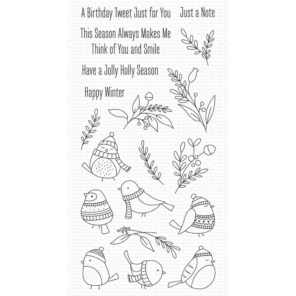 My Favorite Things WINTER SONGBIRD Clear Stamps cs520 zoom image