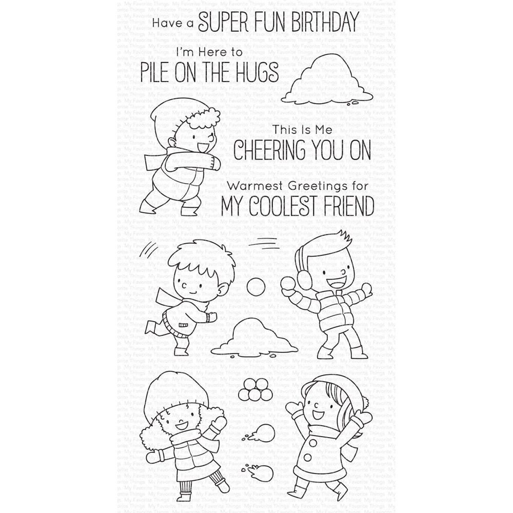 My Favorite Things PILE ON THE HUGS Clear Stamps bb115 zoom image