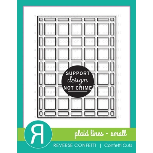 Reverse Confetti Cuts PLAID LINES SMALL Cover Panel Die Preview Image