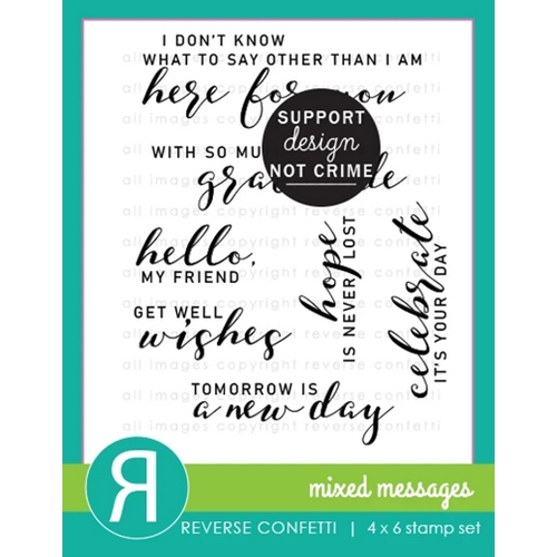 Reverse Confetti MIXED MESSAGES Clear Stamps Preview Image