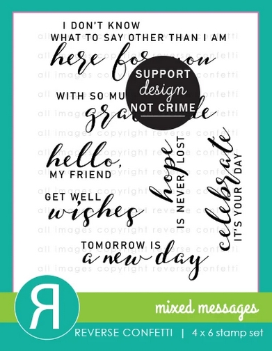 Reverse Confetti MIXED MESSAGES Clear Stamps zoom image