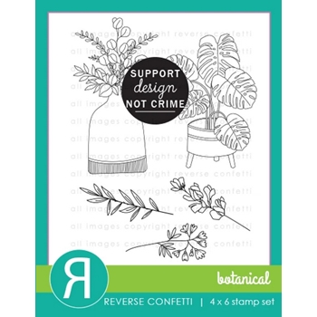 Reverse Confetti BOTANICAL Clear Stamps