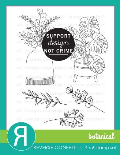 Reverse Confetti BOTANICAL Clear Stamps zoom image