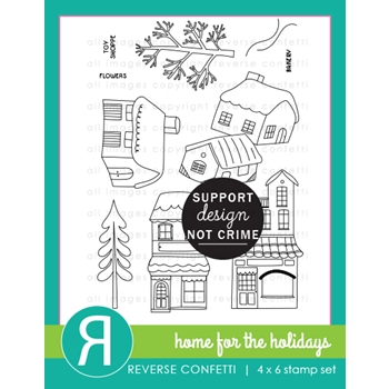 Reverse Confetti HOME FOR THE HOLIDAYS Clear Stamps
