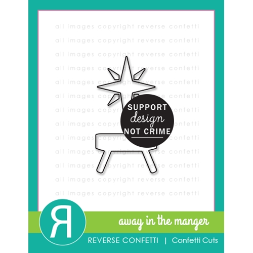 Reverse Confetti Cuts AWAY IN THE MANGER Dies Preview Image