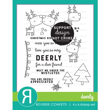 Reverse Confetti DEERLY Clear Stamps