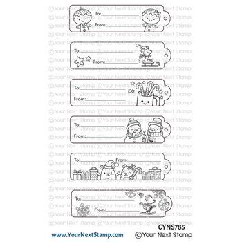 Your Next Stamp CUTE HOLIDAY TAGS Clear cyns785