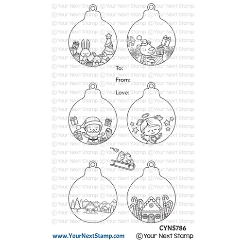 Your Next Stamp CUTE HOLIDAY ORNAMENTS Clear cyns786 Preview Image