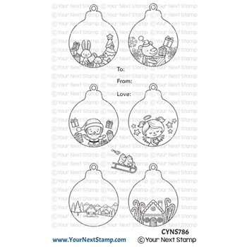 Your Next Stamp CUTE HOLIDAY ORNAMENTS Clear cyns786