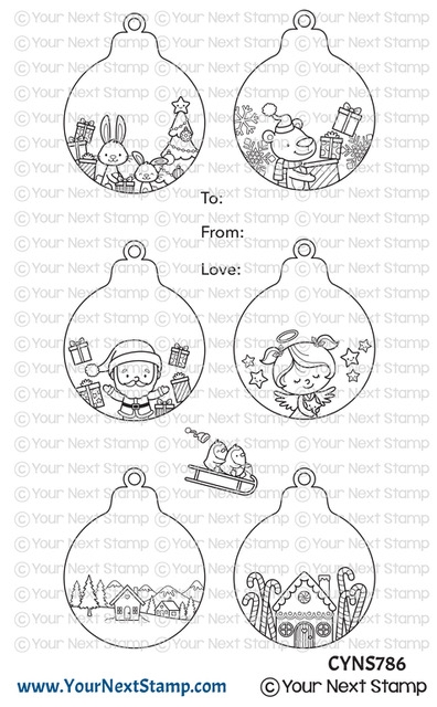 Your Next Stamp CUTE HOLIDAY ORNAMENTS Clear cyns786 zoom image
