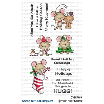 Your Next Stamp HOLIDAY HUGS Clear cyns787*