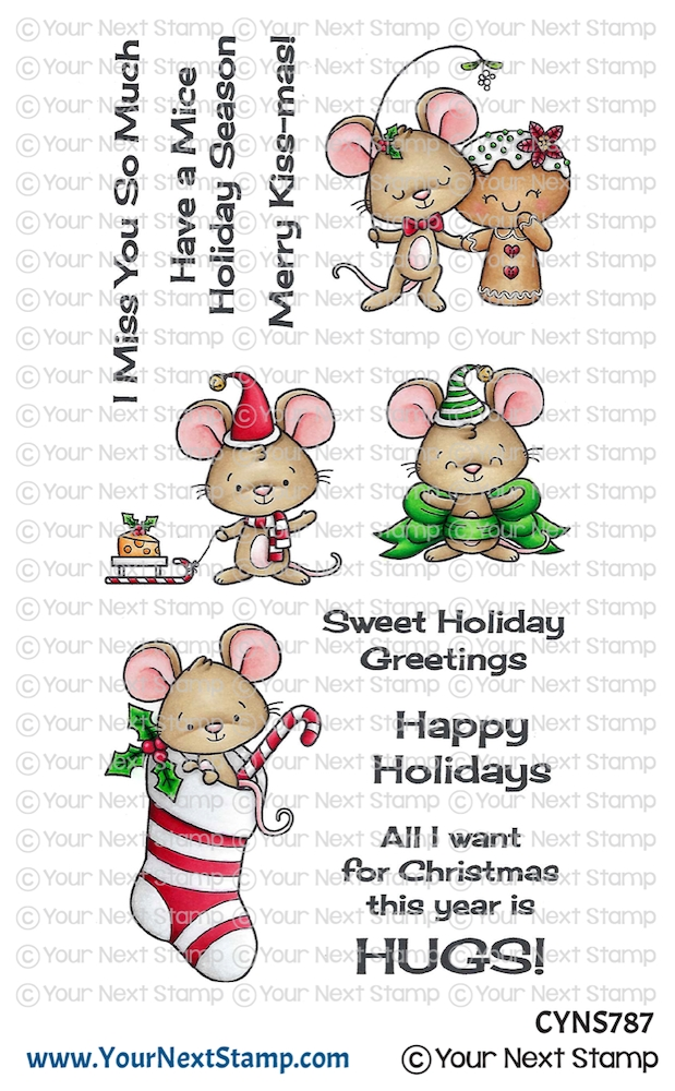 Your Next Stamp HOLIDAY HUGS Clear cyns787 zoom image