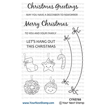 Your Next Stamp CHRISTMAS BANNER Clear cyns788