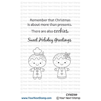 Your Next Stamp GINGERBREAD COOKIES Clear cyns789