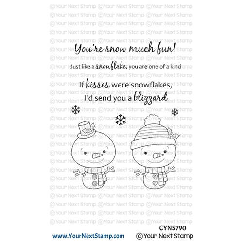 Your Next Stamp SNOWFLAKE KISSES Clear cyns790 Preview Image