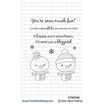 Your Next Stamp SNOWFLAKE KISSES Clear cyns790