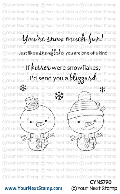 Your Next Stamp SNOWFLAKE KISSES Clear cyns790 zoom image
