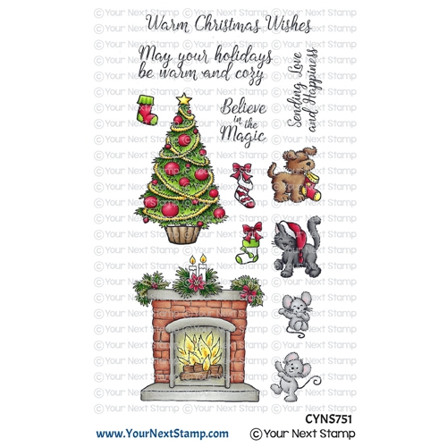 Your Next Stamp COZY CHRISTMAS Clear cyns751 Preview Image