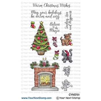 Your Next Stamp COZY CHRISTMAS Clear cyns751