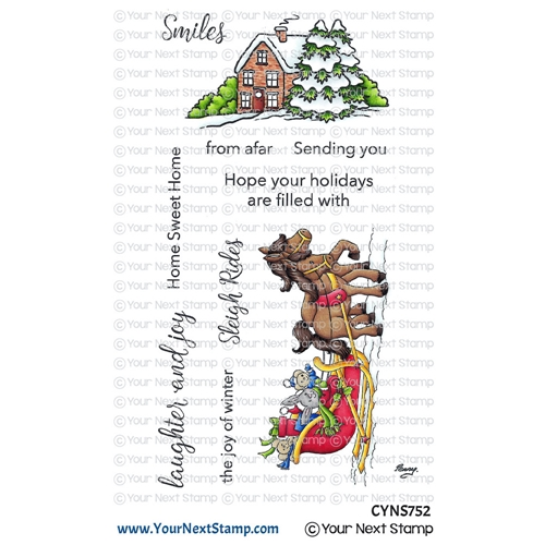 Your Next Stamp SLEIGH RIDE Clear cyns752 Preview Image