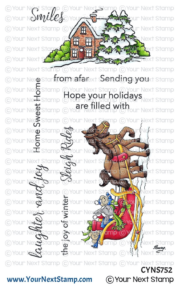 Your Next Stamp SLEIGH RIDE Clear cyns752 zoom image