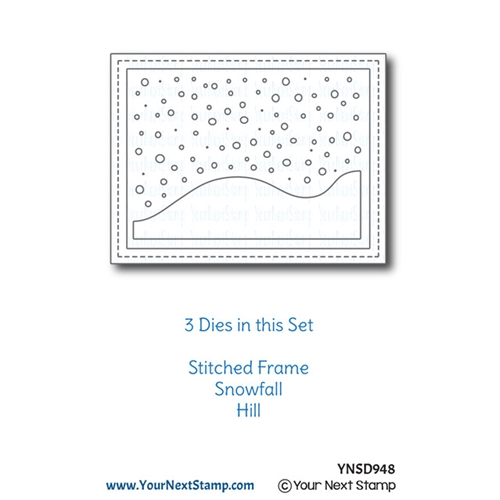 Your Next Die STITCHED FRAME WITH SNOW AND HILLS ynsd948 Preview Image